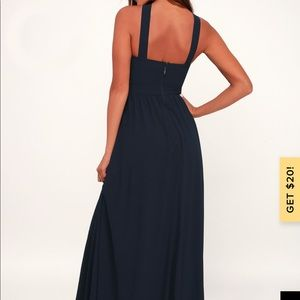 "Lulu's Dresses - Lulus ""air of romance"" maxi navy blue"